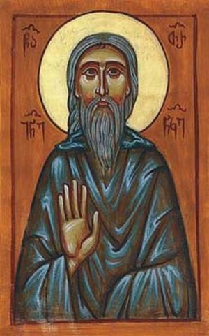 Icono ortodoxo georgiano de San Juan (Tornike) Mtatsmindeli.