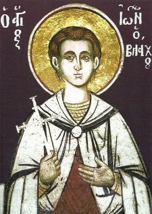 Fresco ortodoxo griego del Santo en el monasterio Vatopedi, Monte Athos (Grecia).