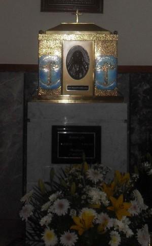 Vista de la urna-relicario de la Santa. Capilla del Hospital de Santa Margarita.