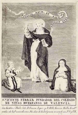 San Vicente Ferrer, fundador del primer orfanato de Valencia. Fuente: Biblioteca Valenciana Nicolau Primitiu,