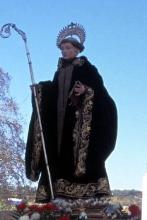 Imagen de San Mauro venerada en Almendral.
