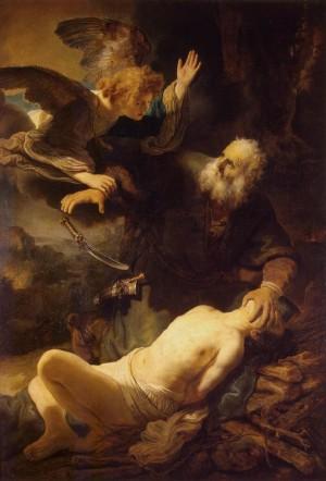 El sacrificio de Isaac, óleo de Rembrandt van Rijn (1635). Museo del Hermitage, San Petersburgo (Rusia).