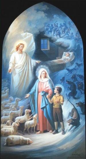 Sueño experimentado por San Juan Bosco a los nueve años de edad, en relación a Jesús, María y la salvación de las almas.