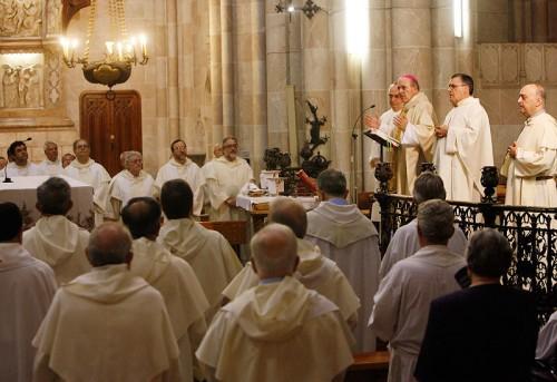 Celebración de los dominicos en Valencia (España), presidida por el arzobispo Carlos Osoro.