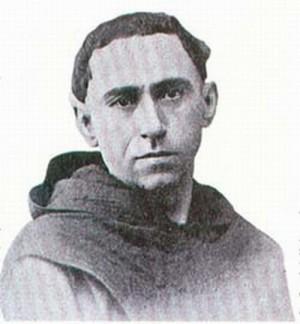 Fotografía del Santo en su hábito de fraile agustino.
