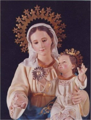 Imagen de María, Madre de la Divina Gracia, patrona de la Congregación de las Hijas del Espíritu Santo, fundada por la Sierva de Dios.