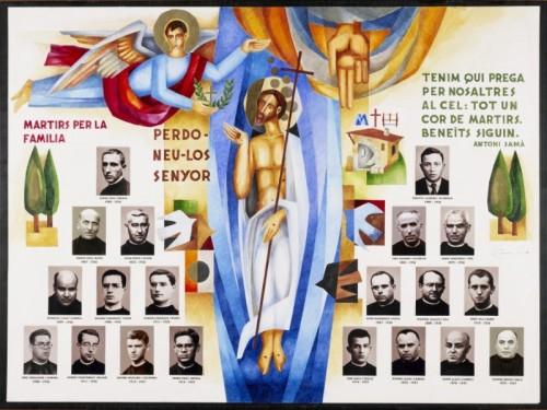 Composición contemporánea con las fotografías de los Beatos.