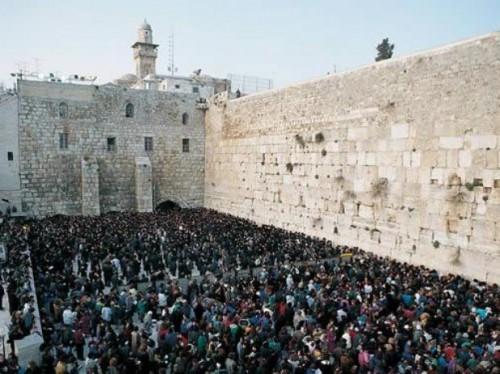 Vista general del Muro de las Lamentaciones, en Jerusalén (Israel).
