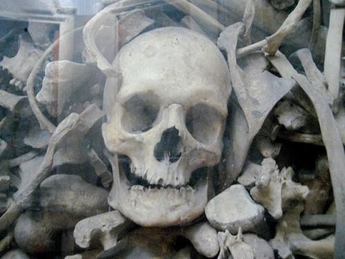 Detalle de las reliquias de uno de los Santos. Catedral de Otranto, Italia.