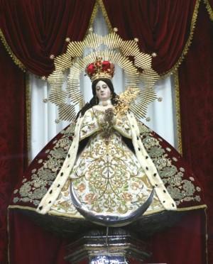 Vista de la imagen completa, vestida de gala. Fotografía: Eugenio Calderón O.