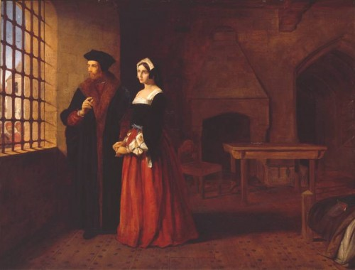 """Sir Thomas More y su hija"", óleo de John Rogers Herbert (1844). Tate Gallery, Londres (Reino Unido)."