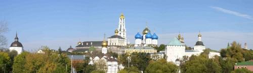 """Vista del """"Troice-Sergievs kaja Lavra"""", monasterio de San Sergio de Radonezh."""