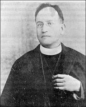Fotografía de San Justino Orona en su hábito de sacerdote.