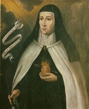 Verdadero retrato de la Madre Catalina, que se encuentra en el convento de Barcelona (España).