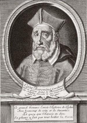 Cardenal César Baronio. Grabado del siglo XVII.