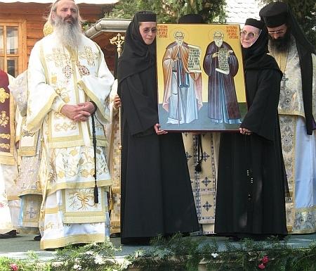 Ceremonia de la canonización de los santos Partenio y Rafael de la Vieja Agapia. 21 de julio de 2008.