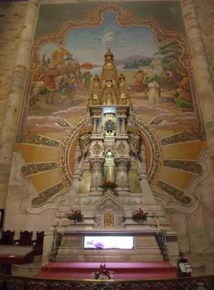 Reliquias de San Valentín Berriochoa en su localidad natal, Elorrio, Vizcaya (España).