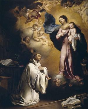 Lactación mística del Santo, obra de Bartolomé Esteban Murillo. Museo Nacional del Prado, Madrid (España).