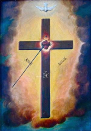 Visión de la Venerable que representa la Cruz de su Apostolado.