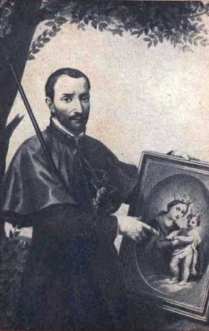 Estampa del Beato Antonio Baldinucci, jesuita y promotor de la devoción a la Virgen del Refugio.