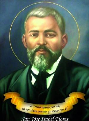 Estampa contemporánea del Santo, realizada a partir de una foto original.