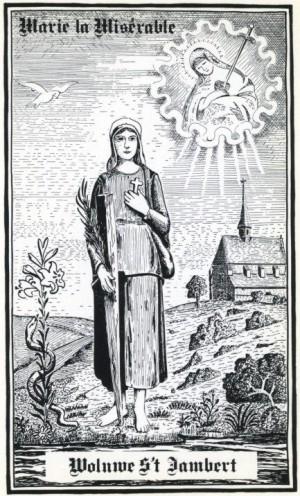 Estampa contemporánea de la Beata María la Miserable.