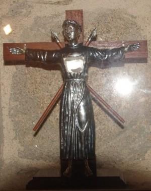 Imagen del Santo en la parroquia de su localidad natal.