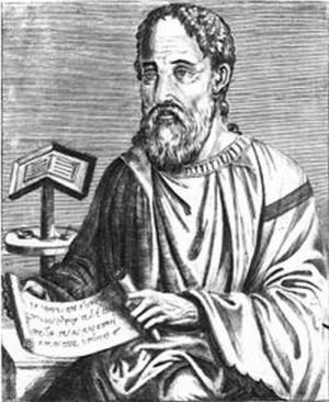 Eusebio de Cesarea, según un grabado de André de Thevet (siglo XVI).