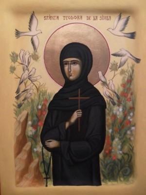 Icono ortodoxo rumano de la Santa.