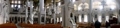 Interior de la Catedral del Patriarcado Greco-Ortodoxo de Antioquía en Damasco (Siria).