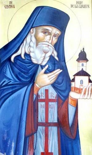 Icono ortodoxo rumano de San José de Văratec.