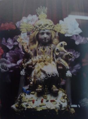 Imagen original del Santo Niño Cieguito venerada en la capilla del convento de las capuchinas de Puebla, México.