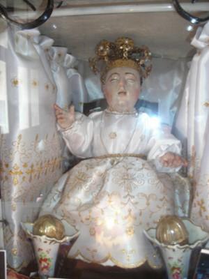 Imagen del Santo Niño Cieguito venerada en Michoacán, la cual dicen será la original.
