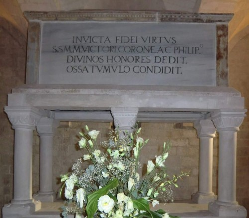 Sepulcro de los Santos en la catedral de Osimo, Italia.