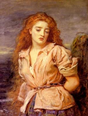 """""""La Mártir de Solway"""", lienzo de sir John Everett Millais (1871) que representa a Margaret Wilson. Walker Gallery de Liverpool, Reino Unido."""