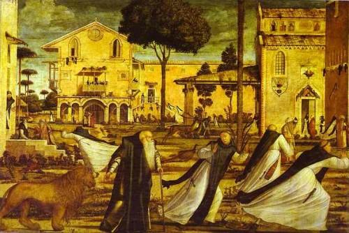 Ilustración 11. San Jerónimo y el león en el monasterio. Carpaccio, Vittore. Scuola di San Giorgio degli Schiavoni, Venecia.
