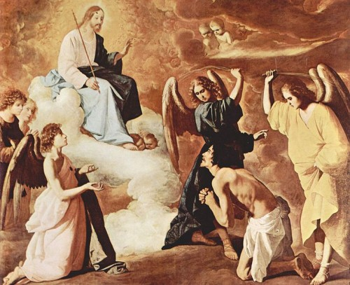 Ilustración 2. San Jerónimo flagelado. Francisco de Zurbarán. Sacristía del Monasterio de Guadalupe.