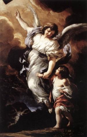 """""""Ángel Custodio"""", lienzo de Pietro da Cortona (1656). Galleria Nazionale d'Arte Antica, Roma (Italia)."""