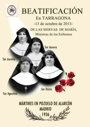 Cartel de la beatificación de las mártires prevista para octubre de este año.