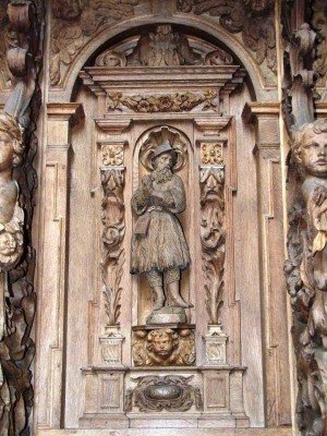 Talla del Santo realizada en madera, del siglo XVIII y que se encuentra en Buxheim (Alemania).