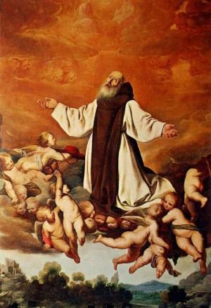 Apoteosis de San Jerónimo. Francisco de Zurbarán. Sacristía del Monasterio de Guadalupe.