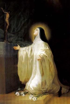 Lienzo de Santa Lutgarda de Tongres, obra de Francisco de Goya y Lucientes (1787). Monasterio de San Joaquín y Santa Ana de Valladolid, España.