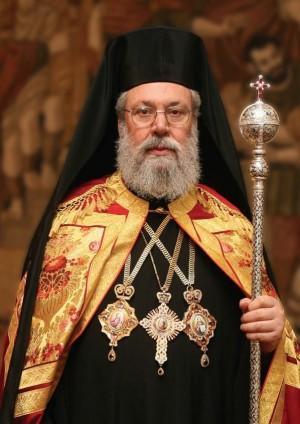 Su Beatitud Chrysostomos, arzobispo de Nea Justiniana y de todo Chipre.