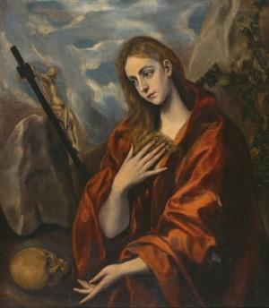 """""""Magdalena penitente"""", óleo de Domenikos Theotokopoulos """"El Greco"""" (1585-1590). Museo Cau Ferrat, Sitges (España)."""