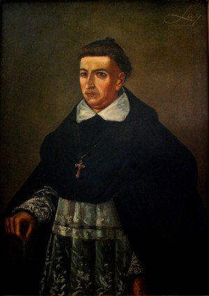 Lienzo-retrato del Siervo de Dios. Fotografía de Francesco Lay.