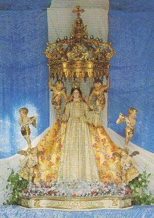 Imagen de la Virgen del Castillo venerada en Ambivere, Italia.