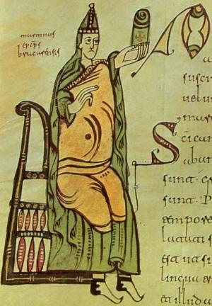 San Martín. Codex Albeldensis (del año 976), Biblioteca del monasterio de San Lorenzo de El Escorial, España.