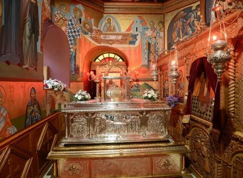 Urna de San Gregorio Palamas en Tesalónica, Grecia.