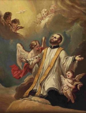 """La gloria de San Cayetano"". Lienzo de la escuela austríaca, s. XVIII."