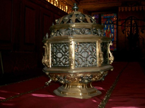 Relicario del cráneo de San Martín de Dumio. Catedral de Braga (Portugal).